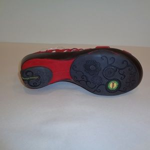 Jambu Shoes - Jambu Size 10 SUGAR Red Leather Wedge Sandals